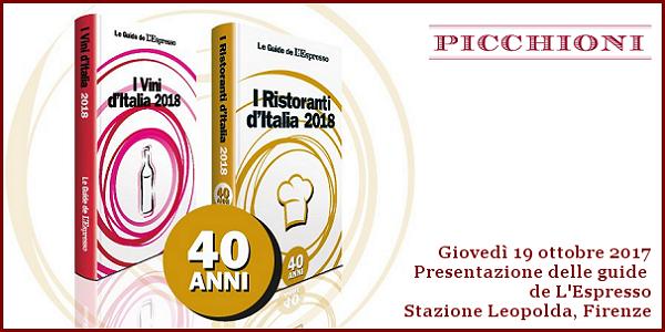 19 ottobre 2017 – Firenze Presentazione delle guide de L'Espresso 2018