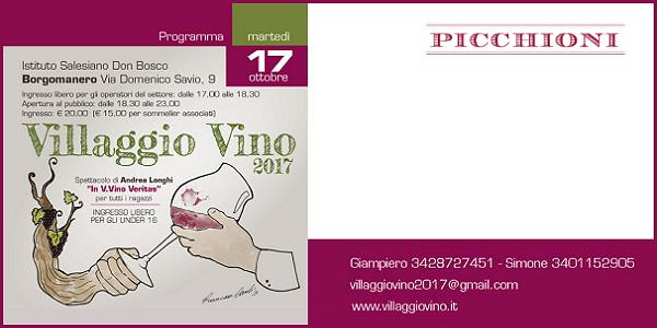 17 ottobre 2017 – Borgomanero (NO) Villaggio Vino 2017