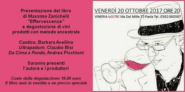 20 ottobre 2017 – Pavia Il nuovo libro di Massimo Zanichelli alla Vineria InOLTRE