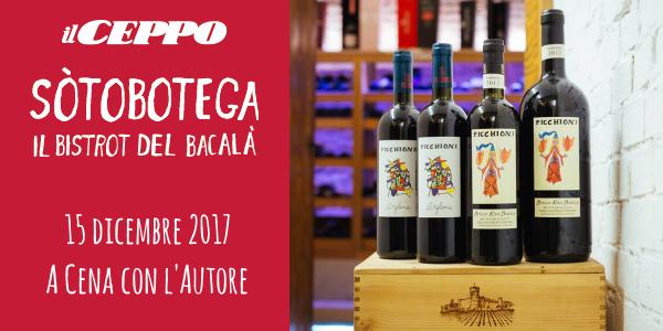 """15 dicembre 2017 – Vicenza """"A cena con l'autore"""" al bistrot Sòtobotega"""