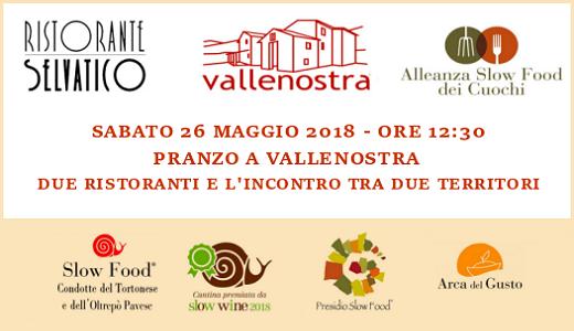 29 maggio 2018 – Mongiardino Ligure (AL) Pranzo con Slow Food all'osteria Vallenostra