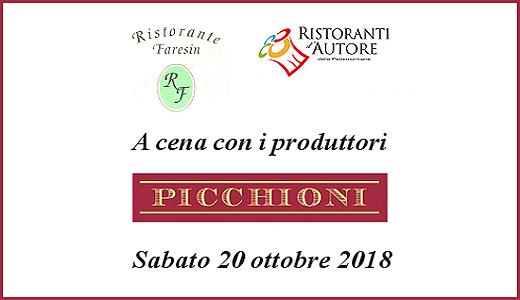 October 20 2018 – Maragnole di Breganze (VI) Tasting dinner with Picchioni wines