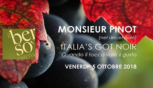 5 ottobre 2018 – Enzano di Sorbolo (PR) Italia's Got Noir all'osteria Il Bersò
