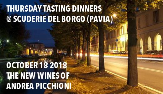 October 18 2018 – Pavia Dinner with Picchioni wines @ Scuderie del Borgo