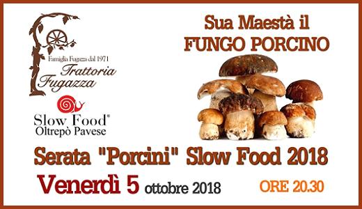 5 ottobre 2018 – San Damiano al Colle (PV) Cena Slow Food alla trattoria Fugazza