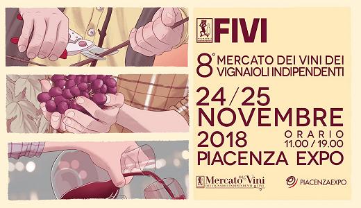 24-25 novembre 2018 – Piacenza Mercato dei vini FIVI 2018