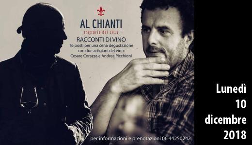 10 dicembre 2018 – Roma Racconti di vino al Chianti