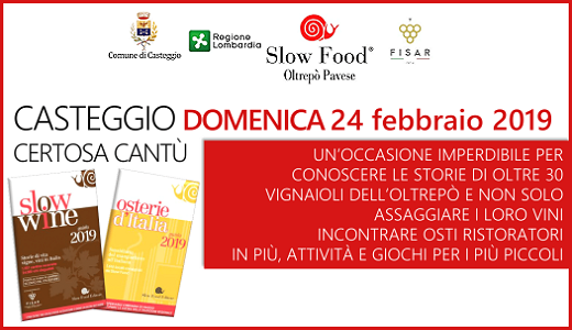 February 24 2019 – Casteggio (PV) Presentation of the 2019 Slow Food guides