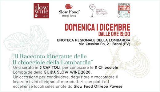 December 1 2019 – Broni (PV) Discovering the 11 Chiocciola-awarded Lombardy wineries