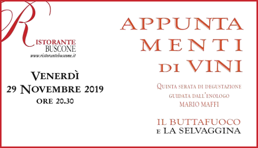 November 29 2019 – Varzi (PV) Game and Buttafuoco dinner at Buscone restaurant