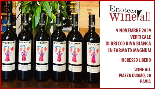 November 9 2019 – Pavia Vertical tasting of Bricco Riva Bianca (magnum format) at Wine All