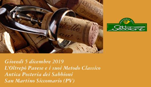 5 dicembre 2019 – San Martino Siccomario (PV) L'Oltrepò Pavese e i suoi Metodo Classico