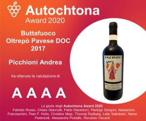 Autochtona Award 2020 - Buttafuoco Bricco Riva Bianca 2017