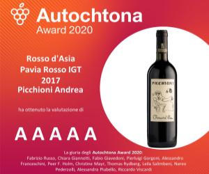 Autochtona award 2020 - Rosso d'Asia